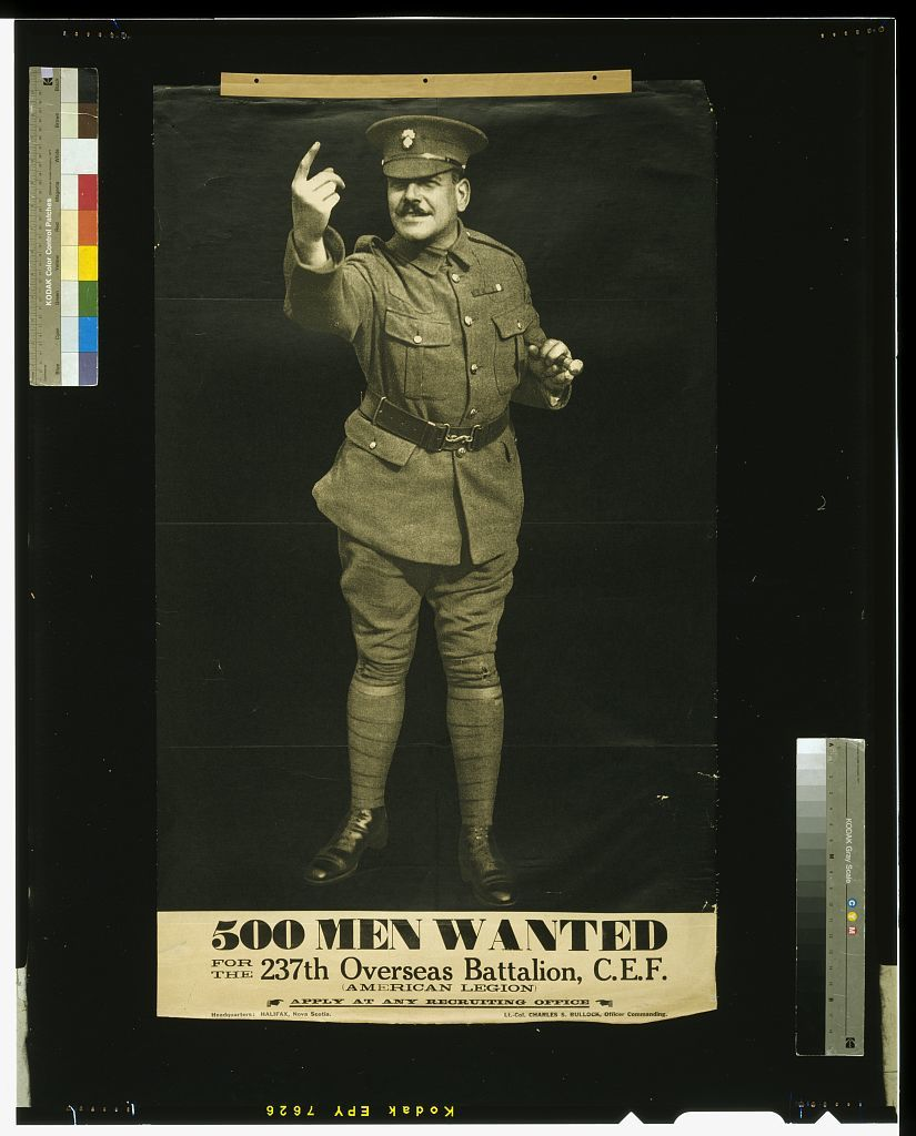 500 men wanted for the 237th Overseas Battalion, C.E.F.