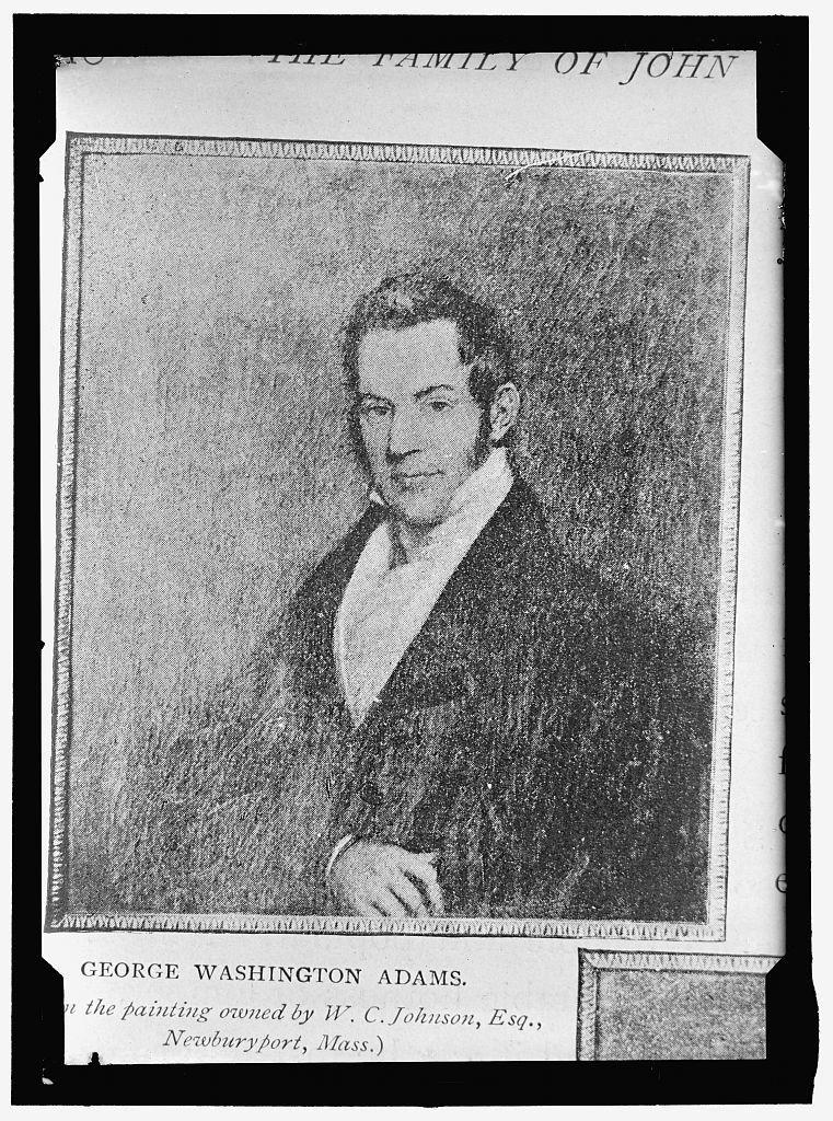 ADAMS, GEORGE WASHINGTON. PORTRAIT
