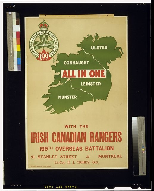 All in one with the Irish Canadian Rangers 199th Overseas Battalion