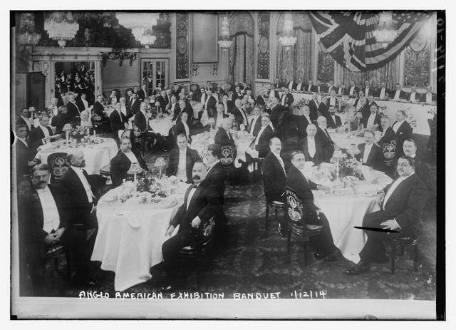 Anglo-American Exhibition Banquet 1/12/14