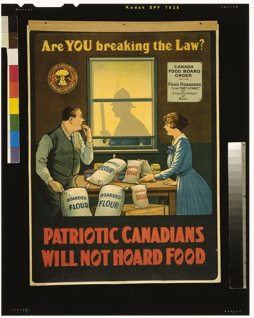 Are you breaking the law? Patriotic Canadians will not hoard food