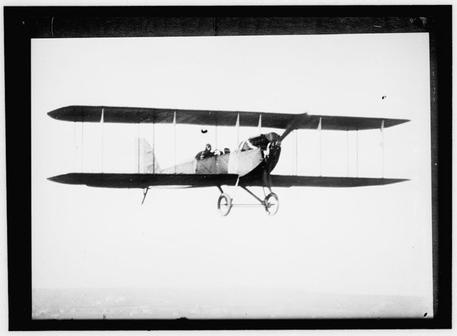 AVIATION, ARMY. EARLY TYPE THOMAS FLYER, TRACTOR BIPLANE