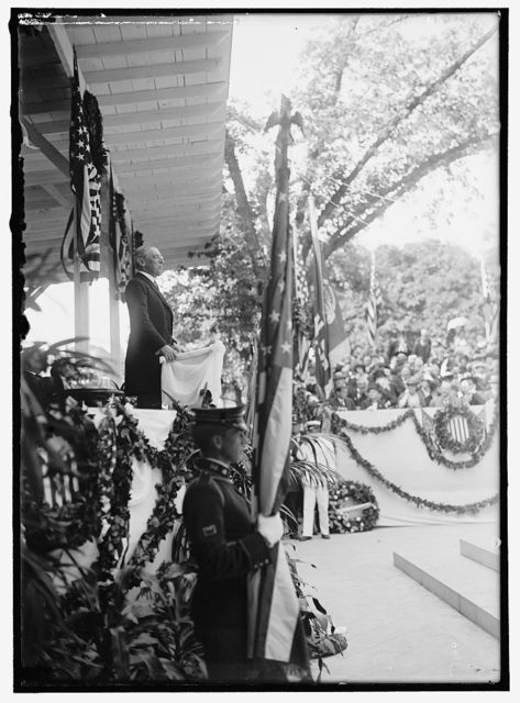 BARRY, JOHN. COMMODORE, U.S.N. HIS STATUE UNVEILED, MAY 16, 1914. PRESIDENT WILSON SPEAKING