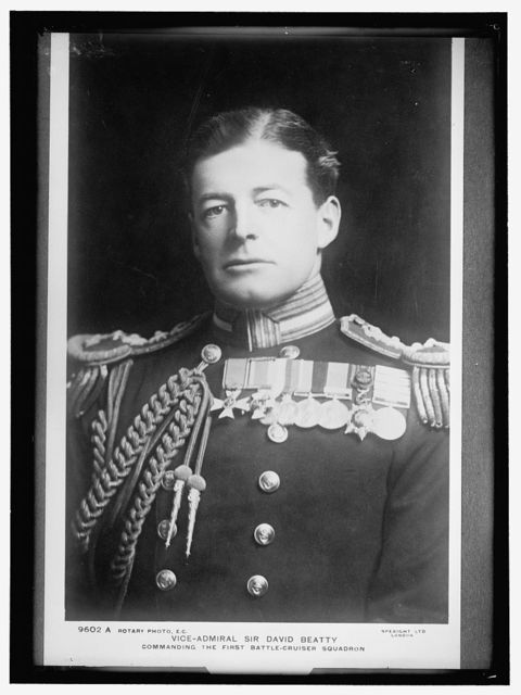 BEATTY, SIR DAVID. VICE ADMIRAL, BRITISH NAVY