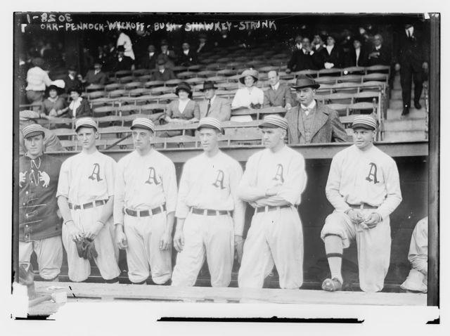 [Billy Orr, Herb Pennock, Weldon Wyckoff, Joe Bush, Bob Shawkey, Amos Strunk, Philadelphia AL (baseball)]