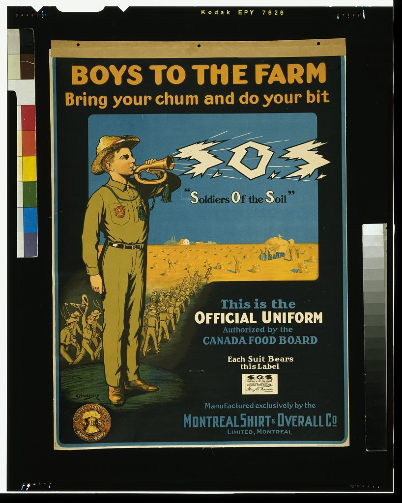 Boys to the farm -- bring your chums and do your bit  -- S.O.S. / E. Henderson.