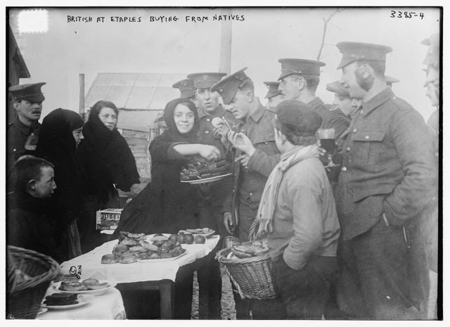 British at Etaples buying from natives