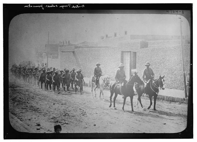 British troops outside Jerusalem[?]