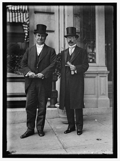 BRYAN, WILLIAM JENNINGS. REP. FROM NEBRASKA, 1891-1895; SECRETARY OF STATE, 1913-1915. WITH MIN. MESSEN