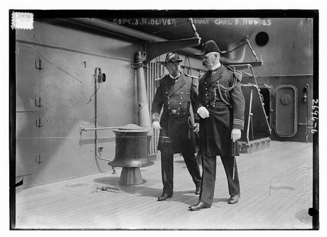 Capt. J.H. Oliver and Cdr. F. Hughes