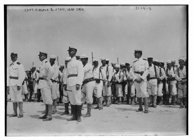 Capt. Niblack & staff, Vera Cruz