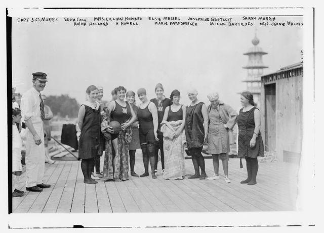 Capt. S.O. Morris, Edna Cole, Mrs. Lillian Howard, Elsie Meiser, Josephine Bartlett, Sarah Marin, Anna Holland, A. Howell, Marie Rampsperger, Millie Bartildes, Mrs. Jennie Waldis