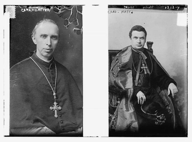 Cardinal Mercier and Cardinal Maffi