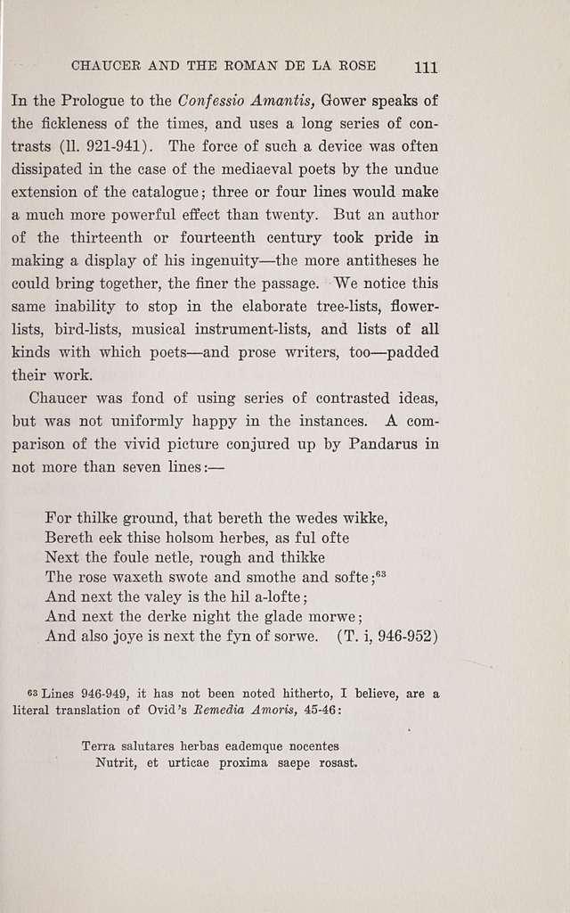 Chaucer and the Roman de la Rose,