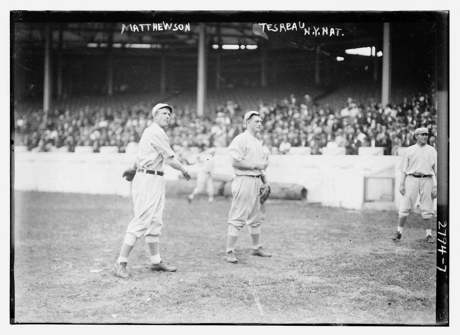 Christy Mathewson & Jeff Tesreau, New York NL, at Polo Grounds (baseball)