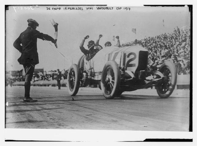 De Palma in Mercedes wins Vanderbilt Cup Race 1914