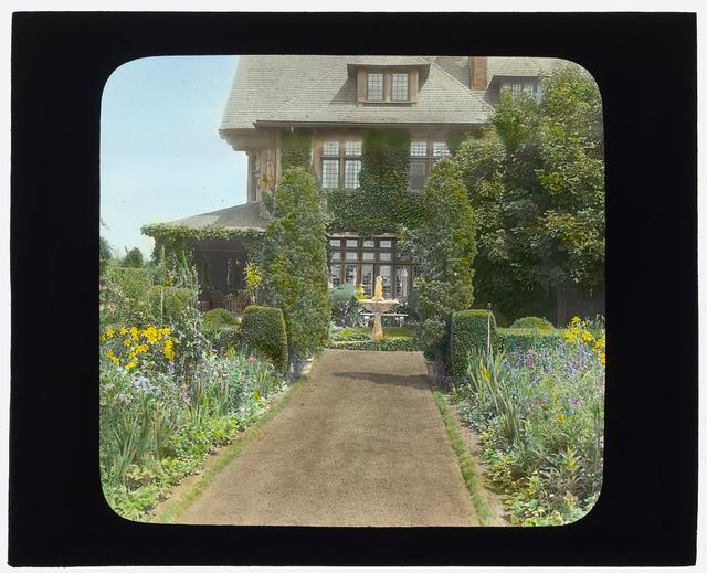 [Dr. Peter Brown Wyckoff house, Gin Lane, Southampton, New York. View to east terrace]