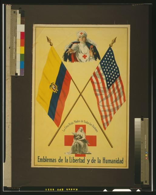 Emblemas de la libertad y de la humanidad La Cruz Roja, Madre de todas las naciones.