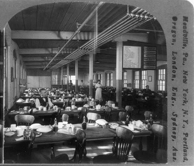 Employees' noon restaurant at the plant of the Cheney Bros. Silk Manufactory, So. Manchester, Conn., U.S.A.