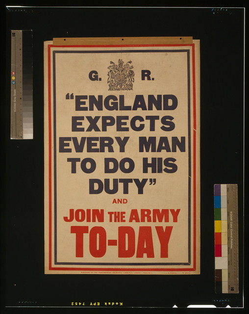 """England expects every man to do his duty"" and join the army to-day / H.T. & Co."