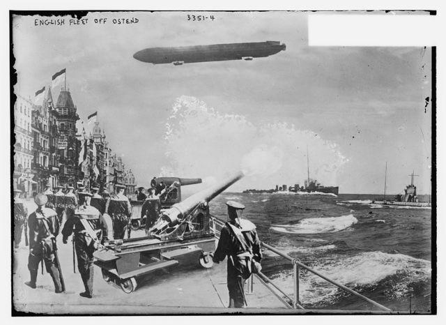 English fleet off Ostend