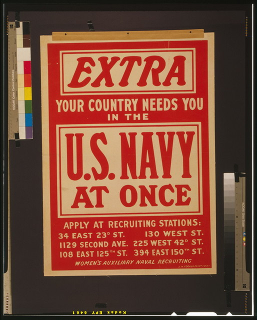 Extra - your country needs you in the U.S. Navy at once