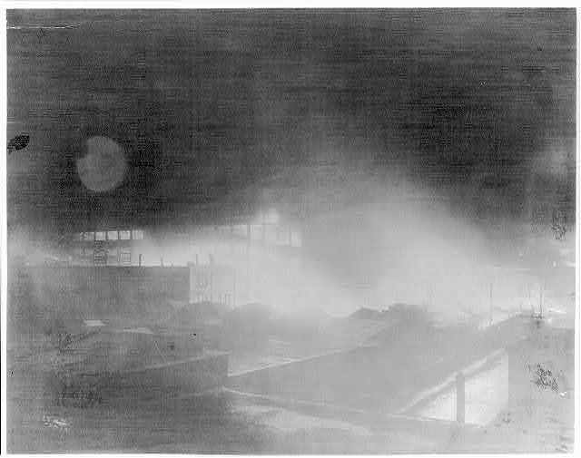 [Fire at Thos. A. Edison, Inc., East Orange, N.J., Wednesday, Dec. 16, 1914, 9:00 P.M.]