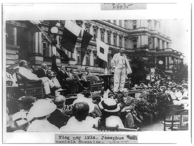 Flag Day, 1914, Josephus Daniels speaking
