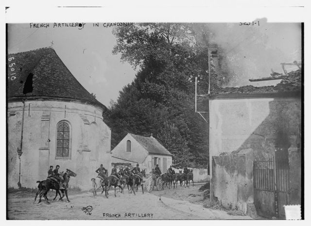 French Artillery in Chanconin [i.e., Chauconin-Neufmontiers]