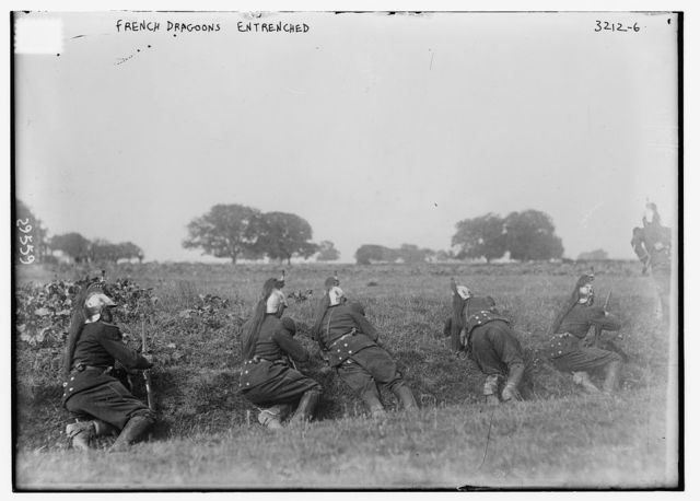 French Dragoons entrenched