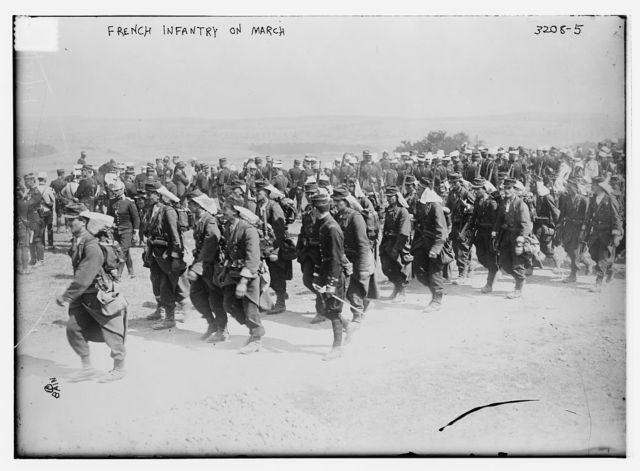 French Infantry on march