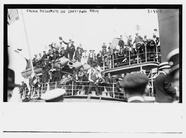 French Reservists on SANTA ANNA, 8/14