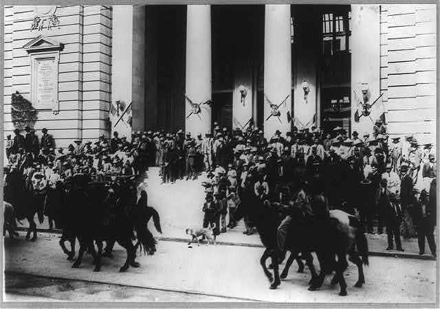 Gen. Villa reviewing troops, Chihuahua, Mexico, Feb. 5 - Mexican War