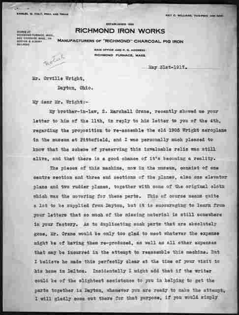 General Correspondence:  Colt, Samuel G., 1914-1917, 1925