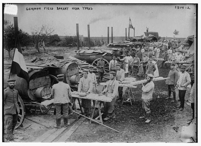 German field bakery near Ypres