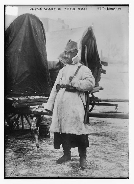 German soldier in winter dress