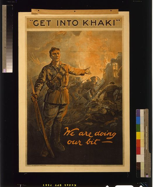 """Get into khaki""; we are doing our bit / H.M. Burton."