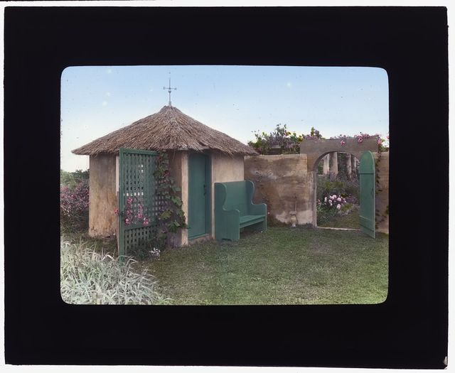 "[""Gray Gardens,"" Robert Carmer Hill house, Lily Pond Lane, East Hampton, New York. Garden tool house]"