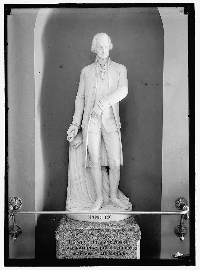 HANCOCK, JOHN. STATUE OF