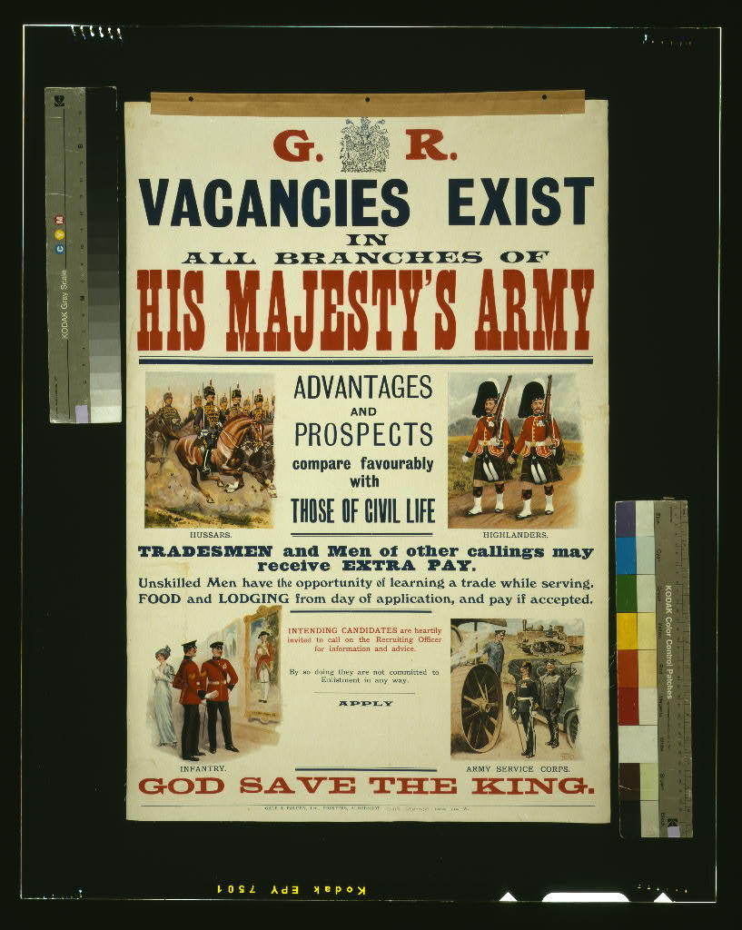 His Majesty's Army ... vacancies exist