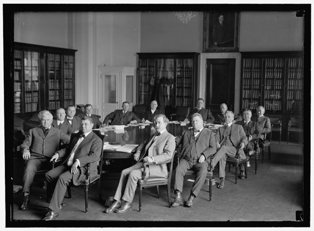 HOUSE WAYS AND MEANS COMM.: GREEN, WILLIAM R., REP. FROM IA; SABATH, ADOLPH J., REP. FR. ILL.; RAINEY, HENRY T., REP. FR. ILL.; OLDFIELD, WILLIAM A., REP. FR. ARK.; McGILLICUDDY, DANIEL J., REP. FR. ME; KITCHIN, CLAUDE, REP. FROM N.C.; HELVERING, GUY T., REP. FR. KS; DIXON, LINCOLN, REP. FR. IND.; DICKINSON, CLEMENT, REP. FR. MO; CRISP, CHARLES, REP. FR. GA.; CONRY, MICHAEL, REP. FR. NY; COLLIER, JAMES, REP. FR. MISS.; CASEY, JOHN, REP. FR. PA.; CAMPBELL, PHILIP P., REP. FR. KS; HULL CORDELL, REP. FR. TN