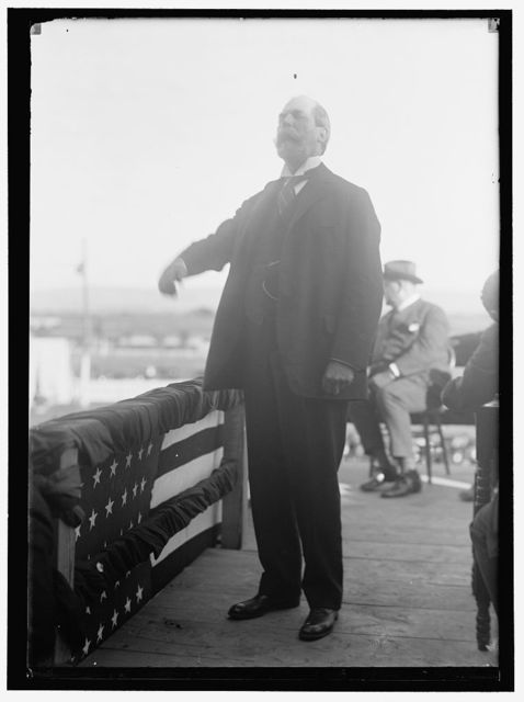 HUGHES, CHARLES EVANS. GOVERNOR OF NEW YORK, 1907-1910; ASSOCIATE JUSTICE OF SUPREME COURT, 1910-1916; CHIEF JUSTICE, 1930 -