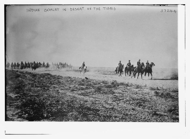 Indian Cavalry in desert on the Tigris