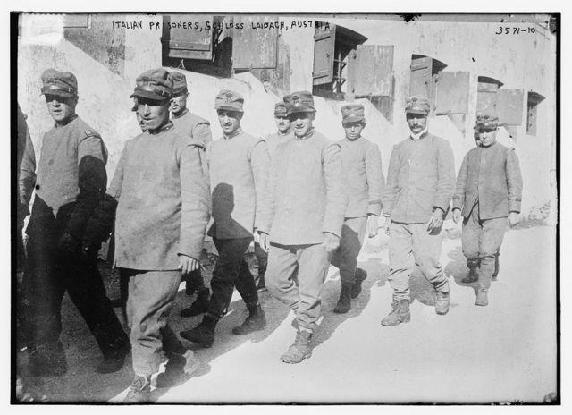 Italian prisoners, Schloss Laibach, Austria