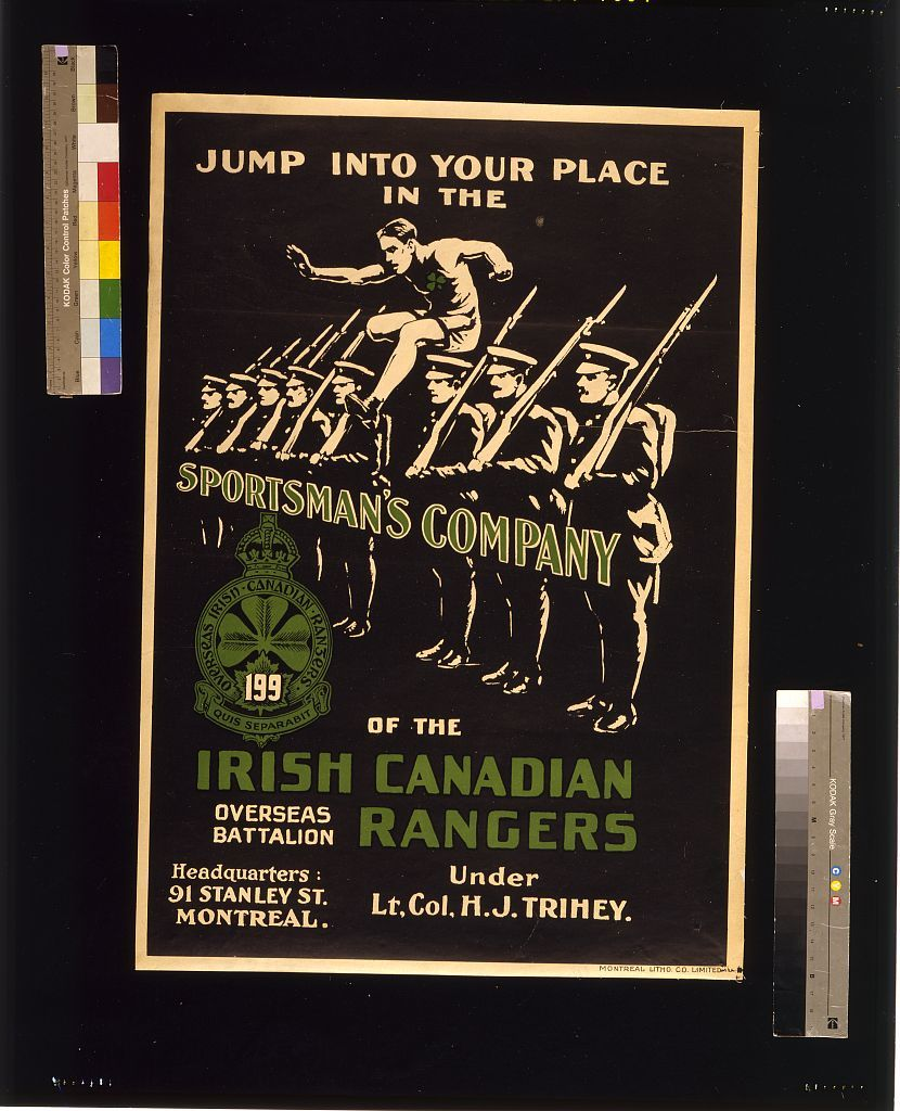 Jump into your place in the Sportsman's Company of the Irish Canadian Rangers