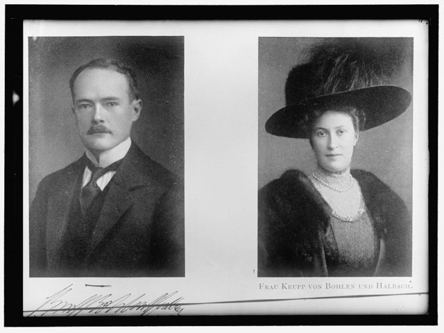 KRUPP VON BOHLEN. OF GERMANY, WITH WIFE
