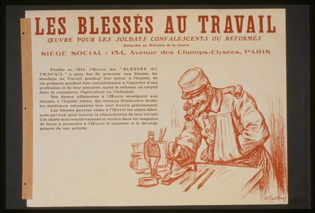 Les Blessés au travail. Oeuvre pour les soldats convalescents ou réformés