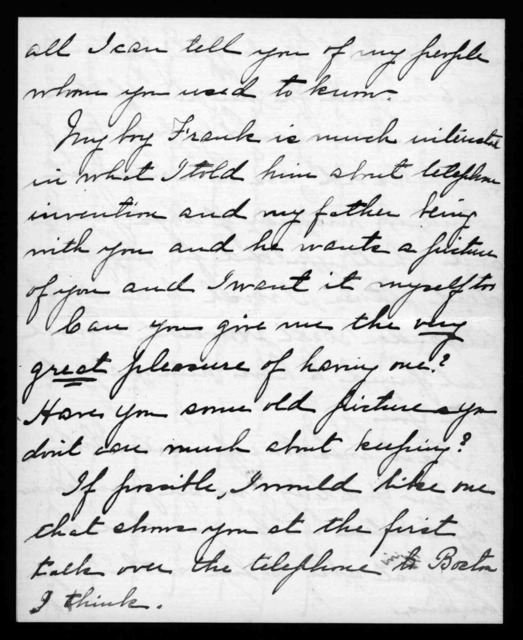Letter from Sara R. Howard to Alexander Graham Bell, March 15, 1914
