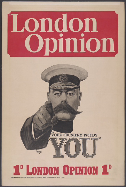 """London opinion """"Your country needs you"""" / Alfred Leete."""