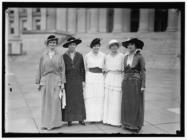 McCHORD, MARGARET, 2ND FROM LEFT; BURLESON, LUCY, 3RD FROM LEFT; JOHNSON, NANCY, RIGHT
